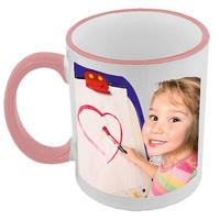 Pink & White Mug - LH