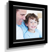 "13x13"" Custom Framed Print - 7x7"" Print in Black Frame w Black Matting"
