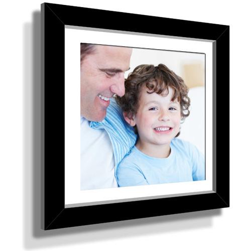 "15x15"" Custom Framed Print - 9x9"" Print in Black Frame w White Matting"