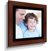 "15x15"" Custom Framed Print - 9x9"" Print in Brown Frame w Black Matting"