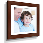 "13x13"" Custom Framed Print - 7x7"" Print in Brown Frame w White Matting"