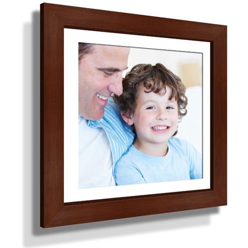 "15x15"" Custom Framed Print - 9x9"" Print in Brown Frame w White Matting"
