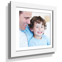 "15x15"" Custom Framed Print - 9x9"" Print in White Frame w White Matting"
