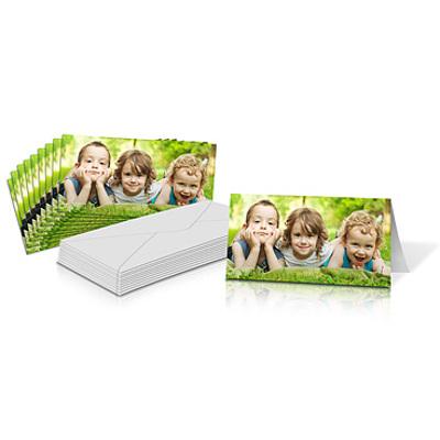 "4x8"" Folded Card Landscape - Single-sided (20 Pack)"