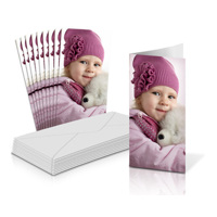 "4x8"" Folded Card Portrait - Single-sided (20 Pack)"