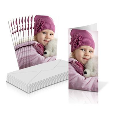 "4x8"" Folded Card Portrait - Single-sided (20 Pack)"
