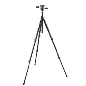 Manfrotto-055Xprob tripod + 804RC2 Basic Pan Tilt Head W/QCK Lock-Tripods & Monopods