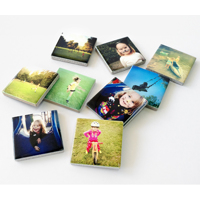 9pk Ceramic Photo Magnets