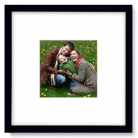 10x10 Black Gallery Framed Print