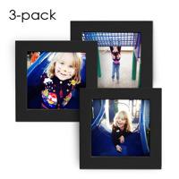 4x4 Black Frames w/ Prints 3-pk