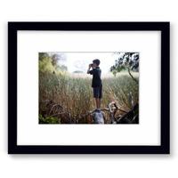 8x10 Black Wall Frame w/Print