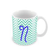 Chevron Monogram Mug
