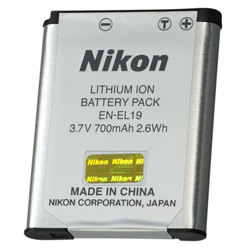 Nikon-EN-EL19 Rechargeable Lithium-Ion Battery Pack-Battery Packs & Adapters