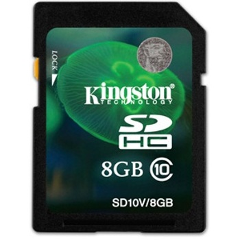 Kingston-SDHC Class 10 8GB-Memory cards, tape and discs