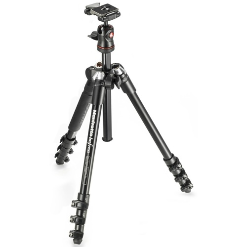 Manfrotto-MKBFRA4-BH Befree Aluminum Travel Tripod with Ball Head - Black-Tripods & Monopods