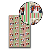 Bright Holiday Stripes Wrapping Paper