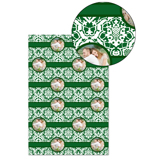Green Lace Wrapping Paper