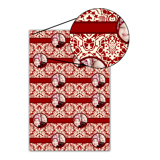 Red Lace Wrapping Paper