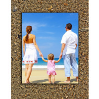 8x10/11x14 V Metal Standout on a beach sand background