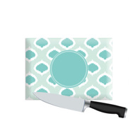 Small Personalized Cutting Board - Turquoise iKat