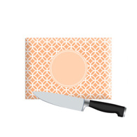 Small Personalized Cutting Board - Orange Links