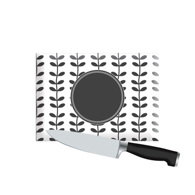 Small Personalized Cutting Board - Black Petals