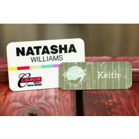 "1"" x 3"" Magnetic Name Badge"
