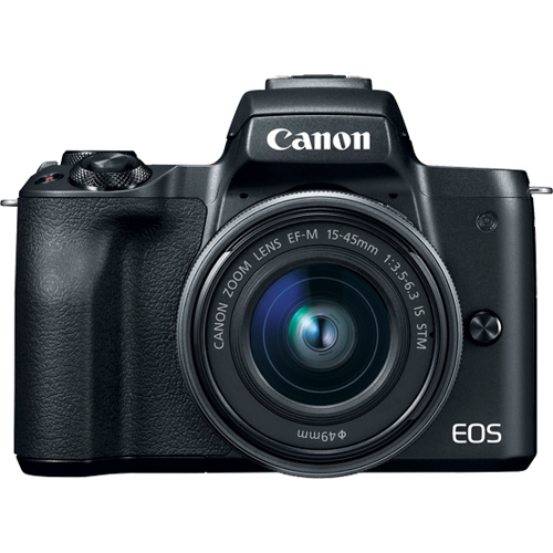 Canon-EOS M50 Mirrorless Camera with EF-M 15-45mm IS STM Lens-Digital Cameras