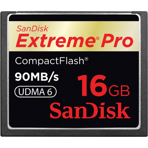 SanDisk-Extreme Pro 600x UDMA 6 CompactFlash Card  16GB-Memory cards, tape and discs