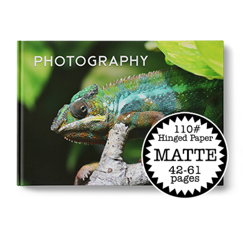 11 x 8.5 Hard Cover Photobook / 110# Hinged Paper (42-61 Pages)