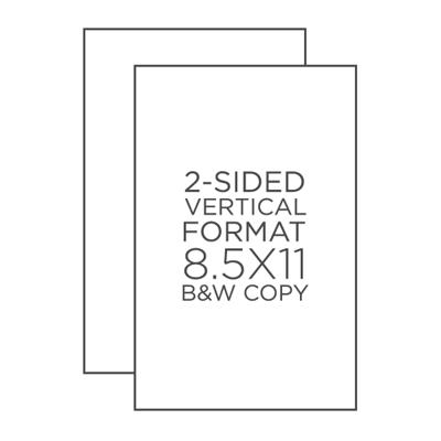 """8.5"""" x 11"""" B&W Copies"""