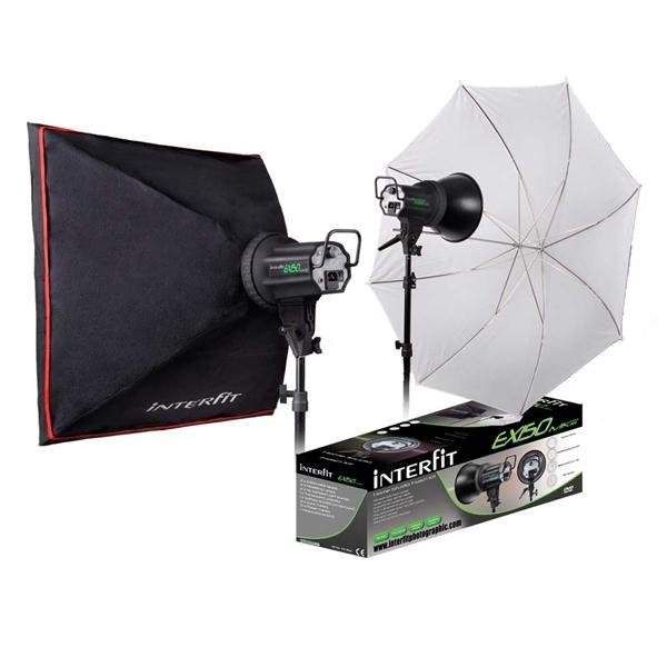 Interfit Photographic-EX150 MKiii Home Studio Flash Kit-Studio Lighting  sc 1 st  Alpine Camera & Interfit Photographic EX150 MKiii Home Studio Flash Kit - Studio ...