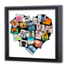 12 x 12 Framed Canvas Heart Collage - 20 photos