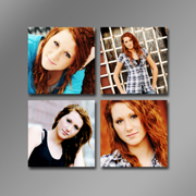 4-4x4 images on 12x12 Custom Background