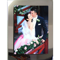 8x10 Vertical Aluminum Print on 11x13 Mirror Stainless Steel