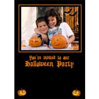 5x7 V Halloween Party Invite