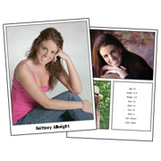 Headshot 8½x11 Double Sided 3 Photos plus stats