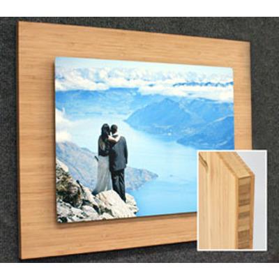 7x10 Horiz Aluminum Print on 11x14 Bamboo Museum Board