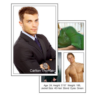 Comp Card 5x8 Vertical with 4 photos