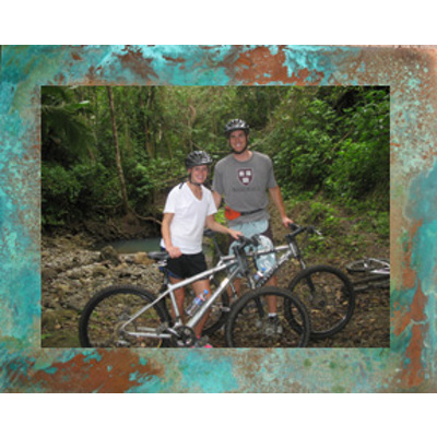 12x16 Horiz Aluminum Print on 16x20 Patina Copper #4 Image