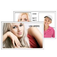 Comp Card 5x8 with 3 photos