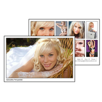 Comp Card 5x8 with 8 photos