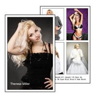 Comp Card 5x8 Vertical with 5 photos