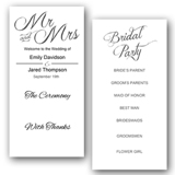 Wedding Programs Double Sided