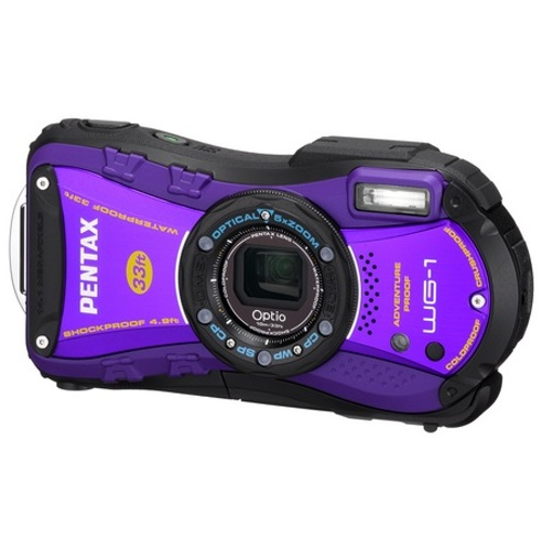 Pentax-Optio WG-1 Outdoor Camera - Purple-Digital Cameras