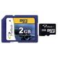 Proflash-Micro SD 2Go avec/ SD Adadpter PF-2GB/MSDT-Cartes mémoires, cassettes et disques