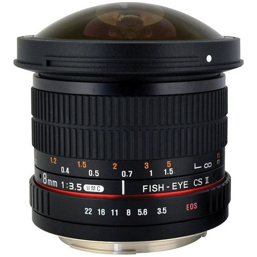 Rokinon-8mm f/3.5 HD Fisheye Lens for Canon-Lenses - SLR & Compact System