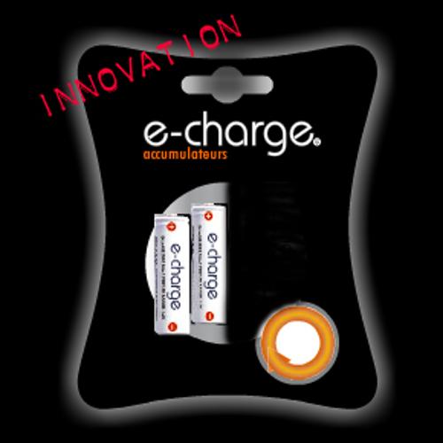 e-Charge-AA 2 piles Ni-MH 2000 mAh-Piles