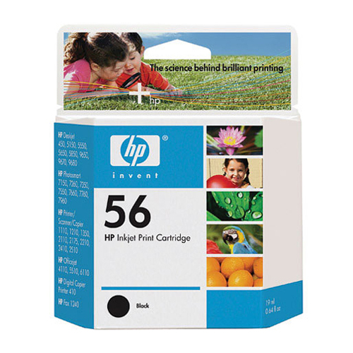HP-HP 56 Black Inkjet Print Cartridge-Ink Cartridges