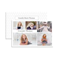 8.5 x 5.5 Comp Card (2-Sided) 5 Photos